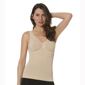 N-Fini 573 Double V Neck Tank w/ Built-In Soft Bra & Underwire