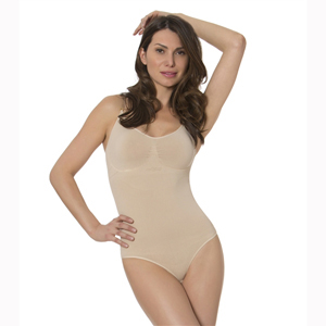 N-Fini 591 Bodysuit w/ Built-In Soft Bra & Full Bottom Panty