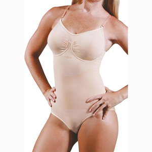 N-Fini 592 Bodysuit w/ Built-In Soft Bra & Underwire-Full Bottom Panty