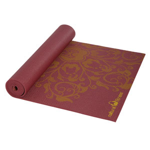 Natural Fitness YESM69BMDL6 Eco-Smart Yoga Mat-Burgundy/Mustard