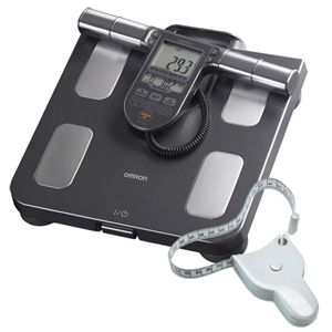Omron HBF-514C Full Body Composition Monitor Scale & FREE Tape Measure