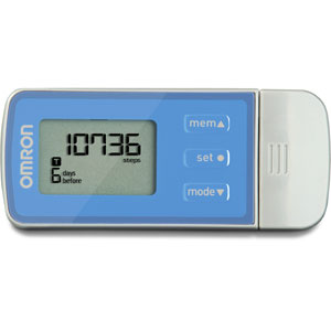 Omron HJ-323U Five Function Tri-Axis USB Pedometer-Retail Packaged