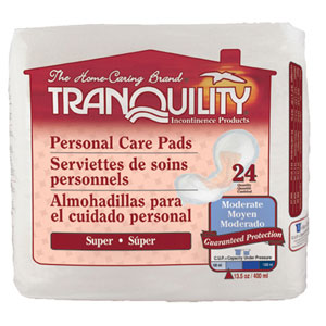 Tranquility 2380 Tranquility Super Personal Care Pad 96/case