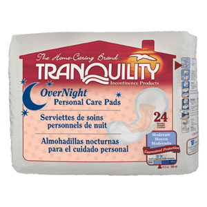 Tranquility 2382 Tranquility Overnight Personal Care Pad-96/case