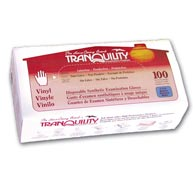 Tranquility 3105/3106 Disposable Vinyl Exam Gloves-1000/Case