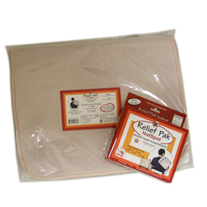 Relief Pak HotSpot Moist Heat Packs and Terry Foam-Filled Cover
