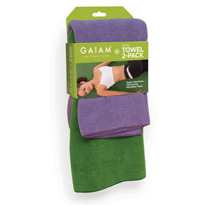 Gaiam 05-58823 Restore Thirsty Yoga Towel 2-Pack
