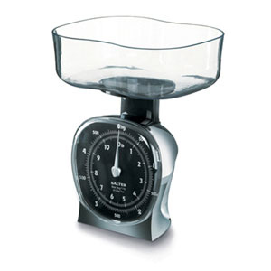 Salter 135CRDR Chrome Mechanical Kitchen Scale