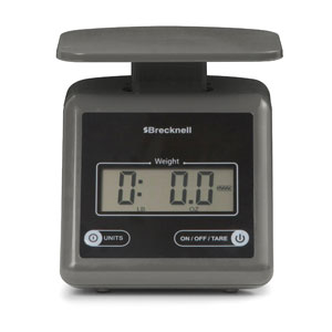 Brecknell PS7 7 lb/3.2 kg Electronic Postal Scale-Gray
