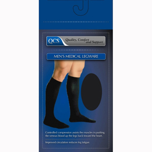Scott Specialties 1652-BLA-S-M Men's Mild Support Compression Socks