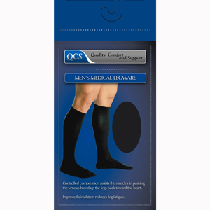Scott Specialties 1652-BLA-XL Men's Mild Support Compression Socks
