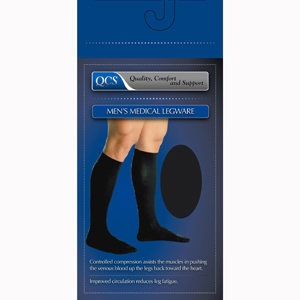 Scott Specialties 1662-BLA-LG Men's Firm Support Compression Sock