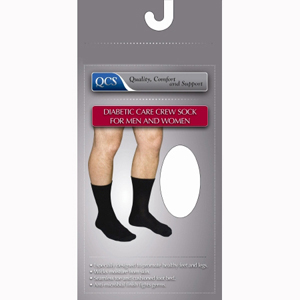 Scott Specialties 1680-BLA-LG Diabetic Compression Crew Socks