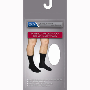 Scott Specialties 1680-WHI-MD Diabetic Compression Crew Socks