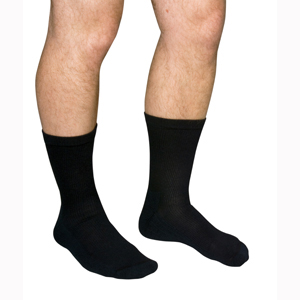 Scott Specialties MCO1680-BLA-XL Diabetic Compression Crew Socks
