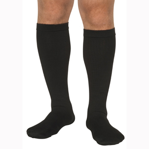 Scott Specialties MCO1681-WHI-LG Diabetic Calf High Compression Socks