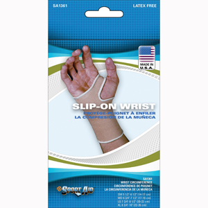Scott Specialties SA1361-BEI-SM Slip-On Wrist Compression Support