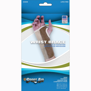 Scott Specialties SA4039-BEI-LGR Wrist Brace with Palm Stay