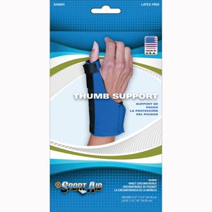 Scott Specialties SA9001-BLU-S-M Neoprene Thumb Support