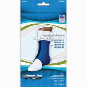 Scott Specialties SA9090-BLU-LG Slip-On Neoprene Ankle Support Brace
