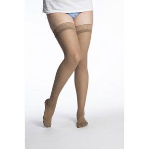 65de2934d SIGVARIS 781N Womens Eversheer Thigh High Socks-15-20 mmHg-Medium Long-Cafe