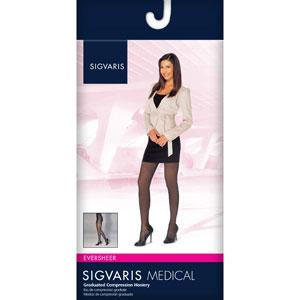 a2db3c1cb59 SIGVARIS 781PO Womens Eversheer Open Toe Pantyhose-15-20 ...