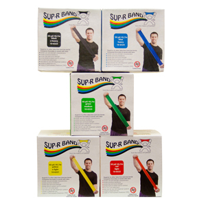 Sup-R Band 10-6328 Latex Free Exercise Band-50 Yard Roll-5-piece set