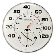 "Taylor 162 18"" Patio Thermometer and Clock"