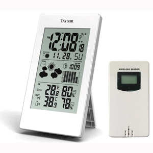 Taylor 1735 Digital Weather Forecaster with Barometer and Alarm Clock