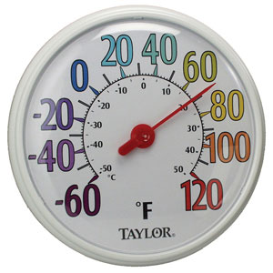 "Taylor 6714 13.5"" Color Dial Thermometer"