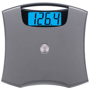"Taylor 7405 Nickel Accented Lithium Scale with 2"" LCD Readout"
