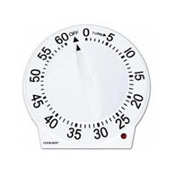Taylor 91030-2 Quartz 60 Minute White Timer