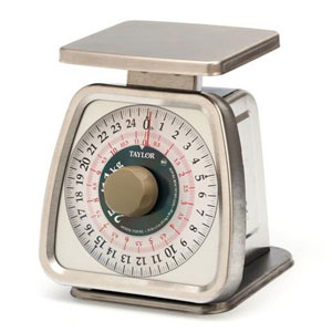 Taylor TS25KL Mechanical Portion Control Scale-25 lb / 11 kg Capacity