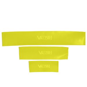 Valor Fitness TLY-SET Thin Loop Yellow Light Resistance Bands Set