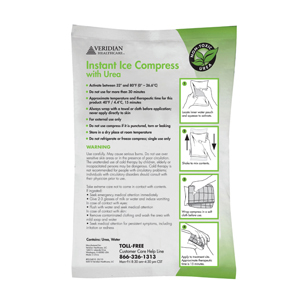 "Veridian 24-921 Instant Ice with Urea Compress-6""x9""-24/case"