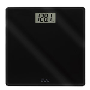 Weight Watchers WW58BN Digital Glass Scale with Inspirational Stickers