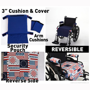 Wheelie Expressions Reversible Replacement Covers for Wheelie Cushions