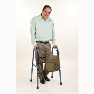 Wheelchair Solutions Wheelie Walker Bags with Leather Trim and Straps